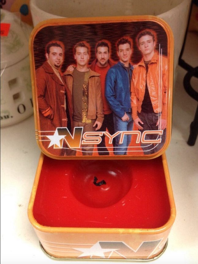 This NSYNC candle brings back memories, not all of them pleasant.