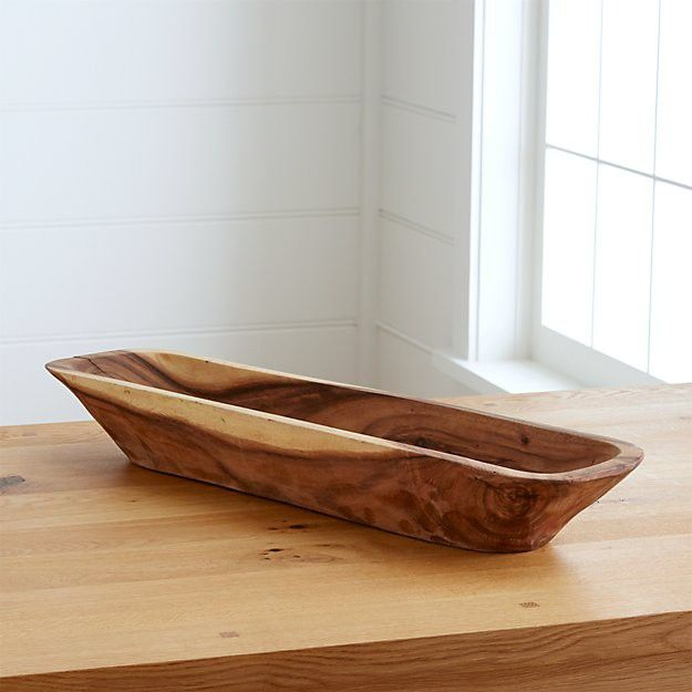 This trough can hold a loaf of bread at dinner or greenery as a centerpiece.