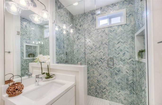 98fb5a8c55bfbc The master bath required a remodel of the remodel when Christina s original  choices turned out to