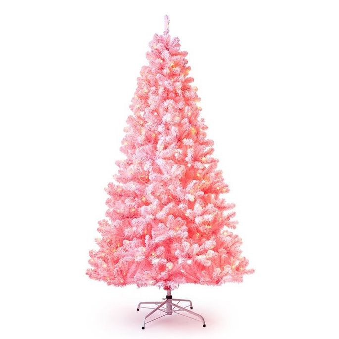 This faux pine is 6.5 feet of pink fun.