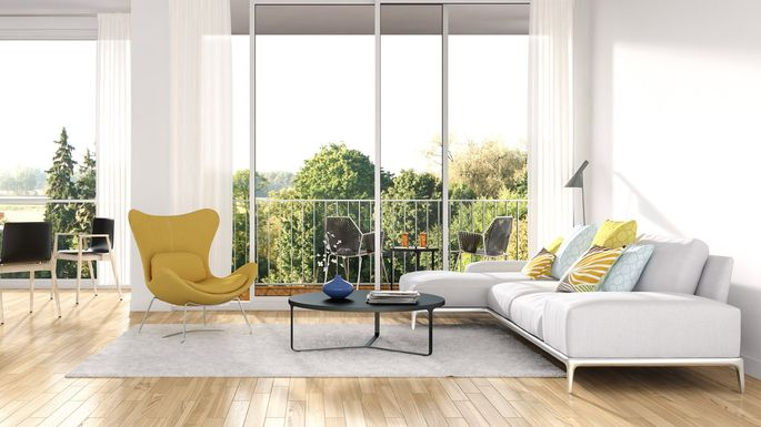 Accent colors create visual interest