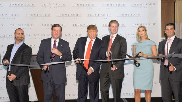 Ribbon cutting ceremony for Trump SoHo New York