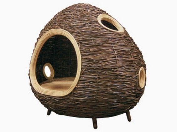 A cabin made of natural materials