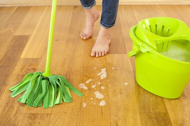 Clean wood floors as part of your winter home maintenance checklist.