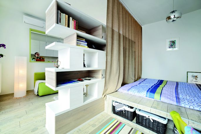 Apartment in Arad. From 150 Best Mini Interior Ideas by Francesc Zamora Mola. Architect Cristina Bordoiu.