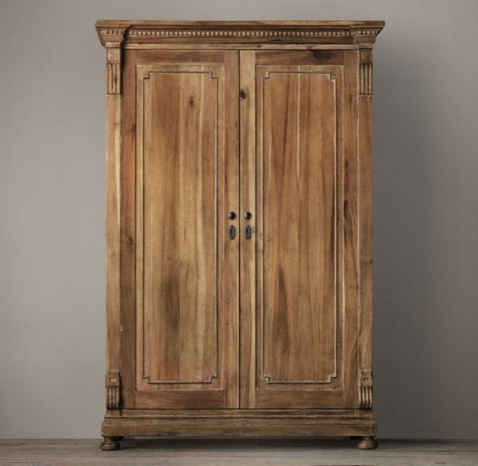 An armoire takes up more space than it's worth.