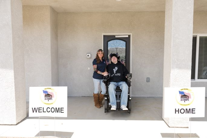 Nicholas and Wendy Mendes received a wheelchair-accessible house from Homes for Our Troops.