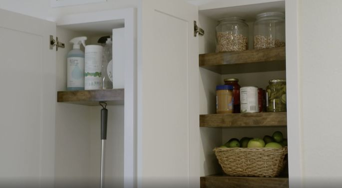 These wood shelves are maple, so they save money while looking great.