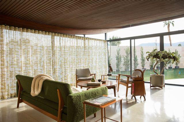 Miles C. Bates living room