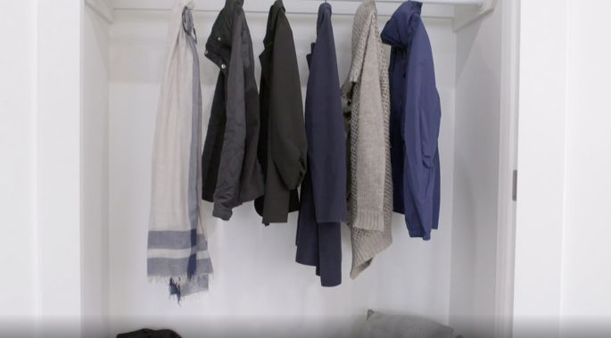 A closet works better in this space.