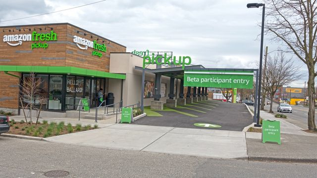 You have plenty of options to pick up your Amazon Fresh order in Seattle.