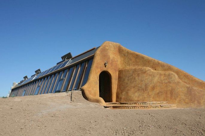 An earthship home in Taos, NM