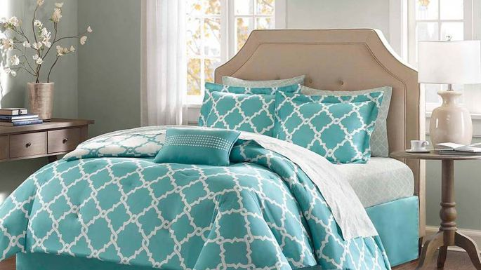 Update the look of a room with a low-cost bedding set.