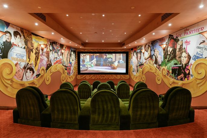 14-seat movie theater