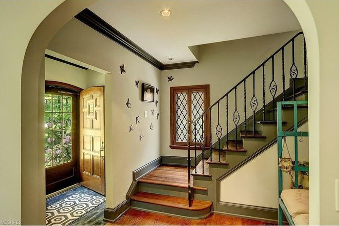 Historical charm abounds inside the home.
