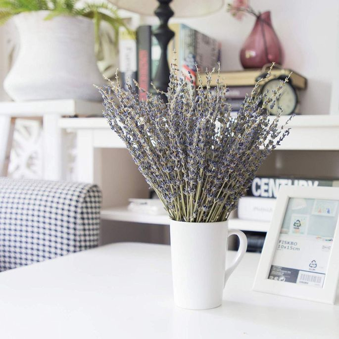 Lavender is a decorative and fragrant way to dress up your bedroom.