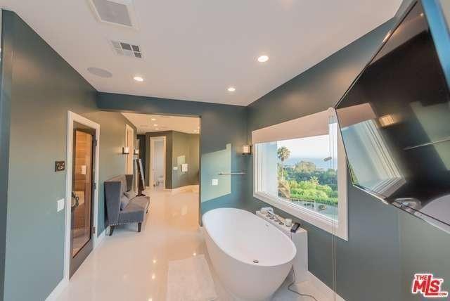 Master bathroom inMalibuhome