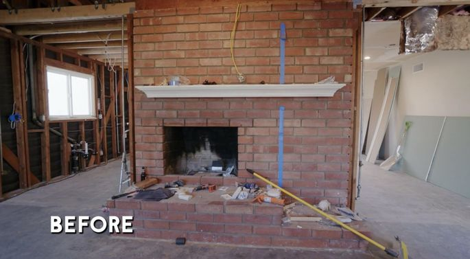 Many homeowners think brick fireplaces look dated.