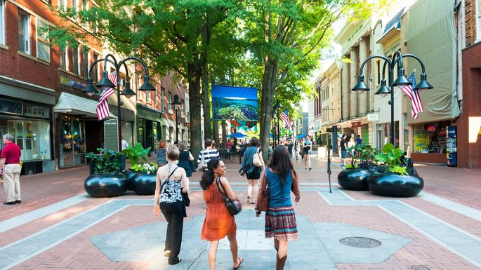 Charming downtown Charlottesville, VA