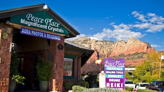 Aura readings, drums, crystals, reiki and other alternative therapies popular in Arizona.