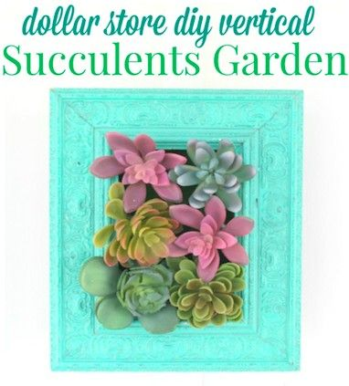Make a chic statement piece with succulents from the dollar store.