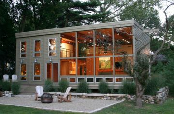 Redone Lakeside Home – With Its Own Funicular Train! – In Michigan
