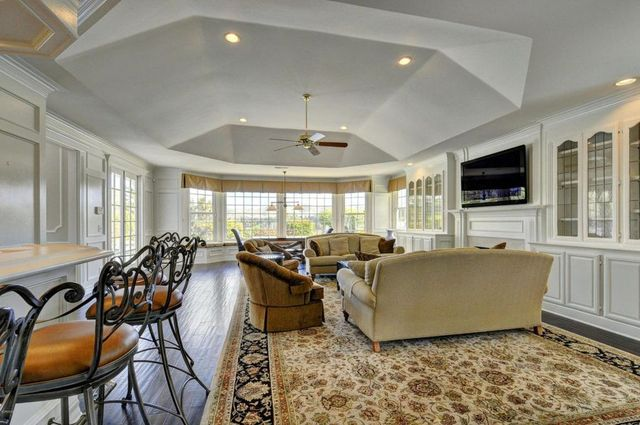 Family room with bar