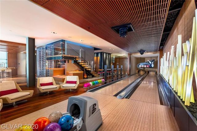 Las Vegas house with bowling alley