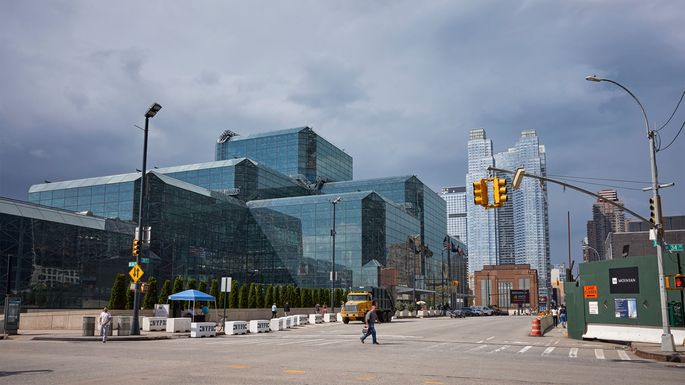 Javits Center on the west side of Manhattan