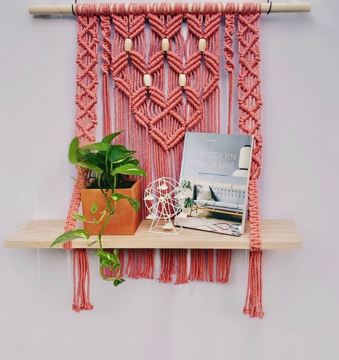 Pink Lady wall hanging
