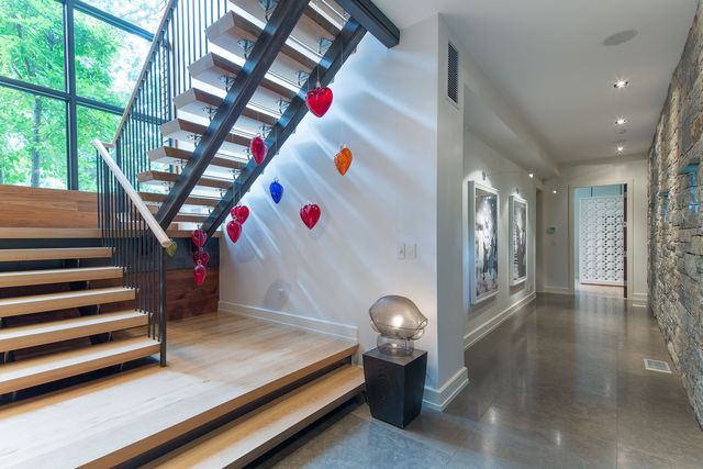 Stairs in NY home of Equinox founder