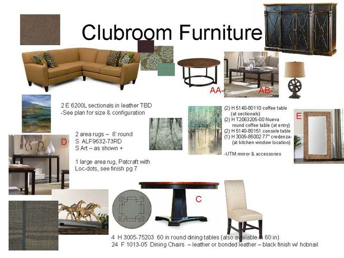 Designers will send clients concept boards with furniture and decor options.