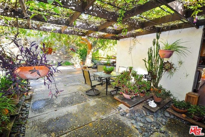 Trellis and outdoor dining