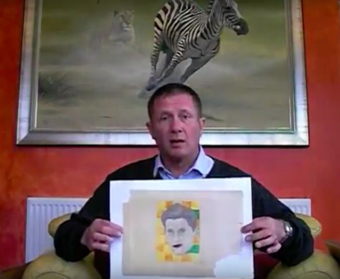 Andy Fields found what he believes is a sketch by a 10-year-old Andy Warhol.