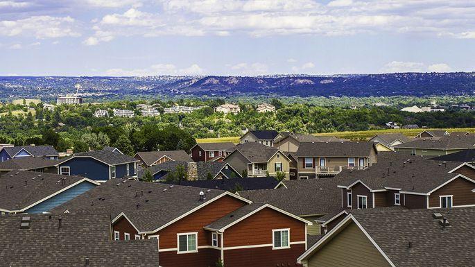 Rooftop views over Colorado Springs, Co