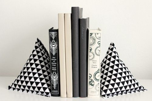 Fabric bookends