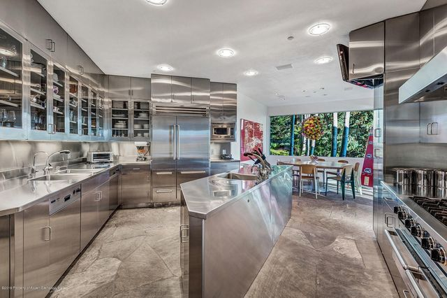 Stainless kitchen in Aspen mansion
