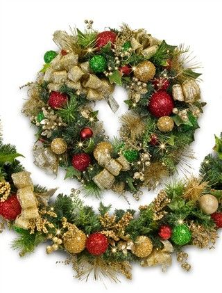 Oversized holiday garland