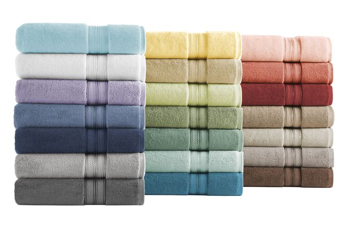 Soft bath towels add a luxe touch to any space.