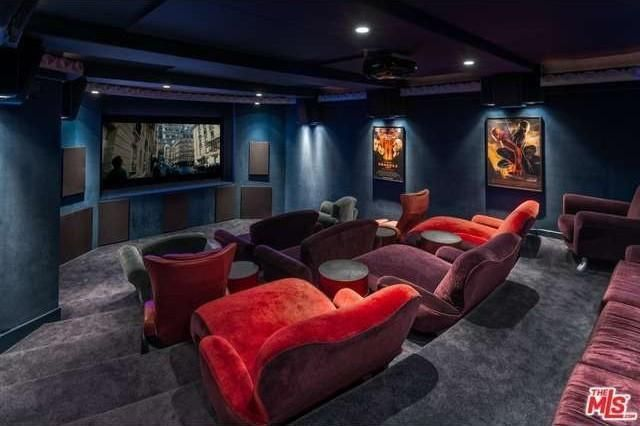 Theater room with seating for over 20