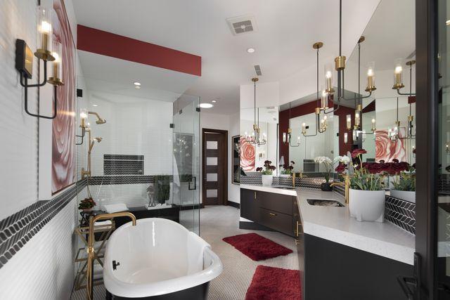 The New American Home, mini master bathroom