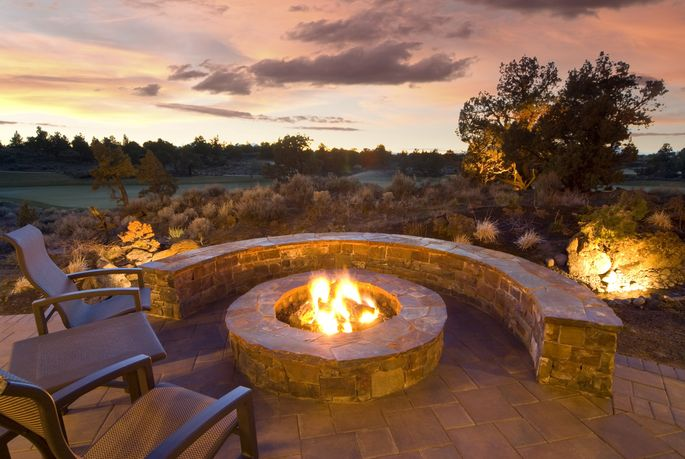 Fire features, fire pits, fire walls, and fire tables are all the rage this fall.