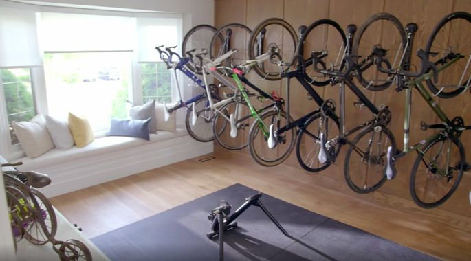 There's room for eight bikes on this wall!