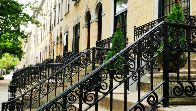 Brownstones, Harlem, NYC.