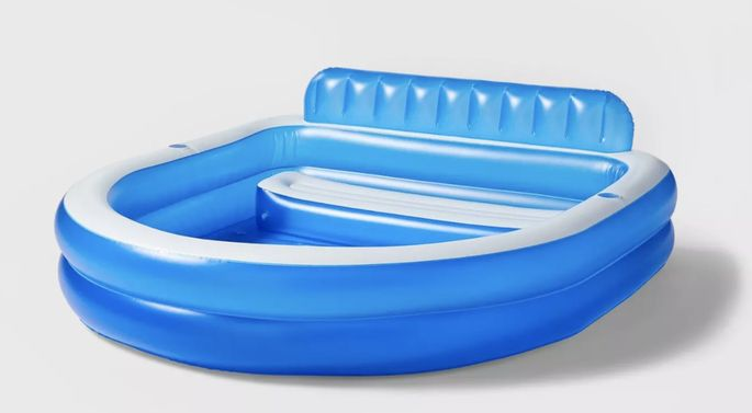 An inflatable pool can provide hours of fun this summer.