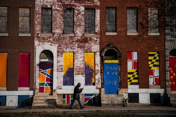 The Sandtown-Winchester neighborhood in Baltimore, once redlined, still struggles today.