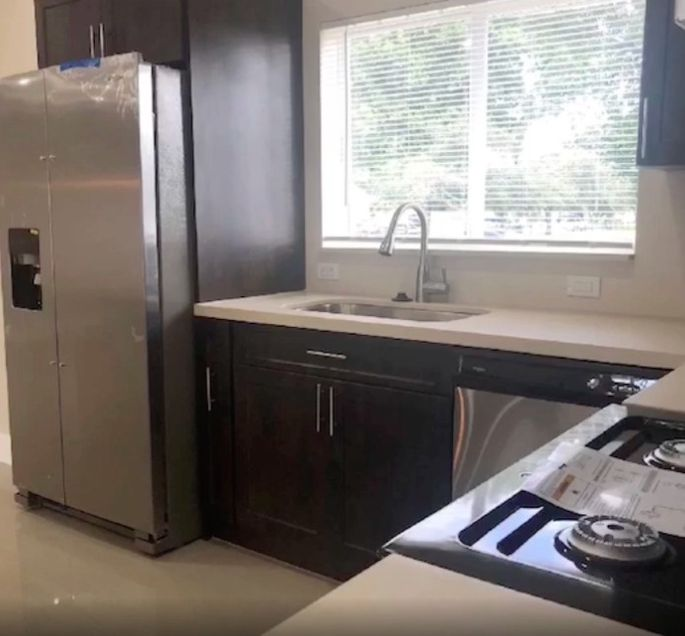 New appliances and countertops modernized the space.
