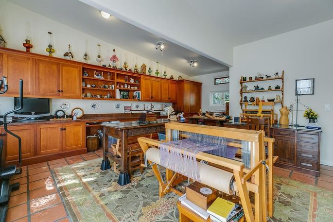 Weaving studio interior