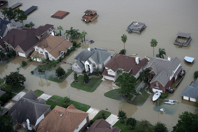The flooding Hurricane Harvey inflicted upon Houston last year struck many homeowners who were outside the highest-risk flood zones.