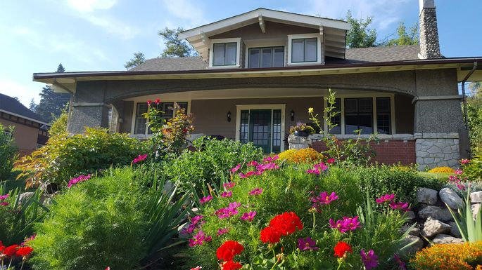 Create curb appeal with a year-round garden.